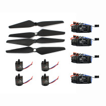 T-Motor Air Gear 450 Power Air2216+T1045 Combo AIR2216 880KV 4 Motor+4 1045 Propellers + HOBBYWING Platinum 30A ESC for DIY RC FPV Drone Quadcopter