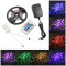 LED Light Strips 16.5 ft/5 m - 300 LEDs + 24 control keys - w/ power supply - w/ fitted EU Plug