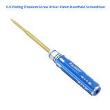 Tarot 0.9 Plating Titanium Screw Driver 45mm Handheld Screwdriver Precise Manual Repair Tool Black for RC Model TL9042