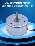 4x Mini Micro 300 Solar Energy Power Motor Long Shaft DC 3V -6V Silent Motor DIY Scientific Technology Small Production Fan Toys