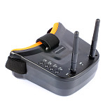 UK Stock Mingchuan Mini FPV Goggles 3 inch 480 x 320 Display Double Antenna 5.8G 40CH Built-in 3.7V 1200mAh Battery for Racing Drone Models