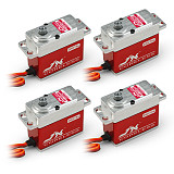 JX 4Pcs Servo PDI-HV7232MG 32KG High Torque Full Metal Tooth Housing High Pressure Digital Servo
