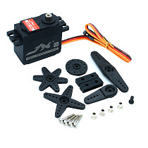 JX Servo PDI-HV5523MG 23KG High Torque Metal Gear Digital Servo High Pressure Standard Steering Gear + Steering Arm