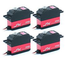 JX 4Pcs Servo PDI-2506MG 25g Metal Digital Miniature Servo High Performance Digital Coreless Servo CNC Aluminum Inner Shell