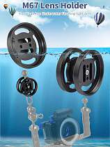 BGNING Diving Lens Carrier Buoyancy Arm Extension Lens Base Close-up Lens Fixing Base M67 Single/Double Holder