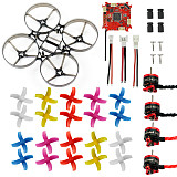 75mm Mini Indoor RC Racing Drone Combo Set Bwhoop75 Frame Kit & Crazybee F3 FC ESC & 1S KV19000 Motor & 40mm 4-Blades Propeller