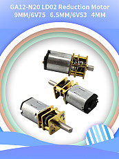 Feichao 2Pcs GA12-N20 Reducer Motors 4MM Miniature Low Speed Small Motor Robot Metal Gear Reduction