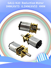 Feichao 2Pcs GA12-N20 Speed Reducer DIY Assembled Smart Car Micro DC Gear Motor Slow Speed Motor