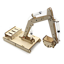 Feichao DIY Wooden Hydraulic Excavator Model Science Experiment Wooden Handmade Material Toy for Children