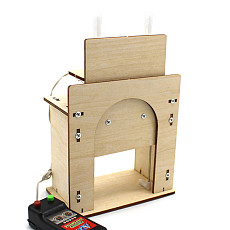 Feichao DIY Wooden Lift Door Science and Technology Invention Toy Homemade House Garage Model Electric Door Kit