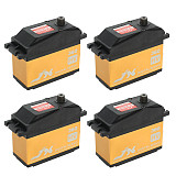 JX 4Pcs Servo PDI-HV2060MG 60KG Super Torque Digital Gasoline Servo 180/360 Degrees Arm Digital Servo