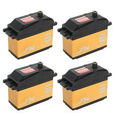 JX 4Pcs Servo PDI-HV2060MG 60KG Super Torque Digital Gasoline Servo 180/360 Degrees Arm Digital Servo