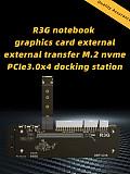 M.2 key M NVMe External Graphics Card Stand Bracket with PCIe3.0 x4 Riser Cable 25cm 50cm 32Gbs For ITX STX NUC VEGA64 GTX1080ti