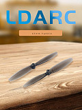 LDARC 10 Pairs 65mm Propeller 1.5mm Hole 2-Blade Paddle CW CCW Props PC Propellers for Toothpick Frame DIY RC Drone Quadcopter Multicopter