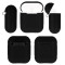 FCLUO 1x Soft Silicone Earphone Case Shockproof Protector Cover for Airpods Charging Box Wireless Earphones Air Pod Pouch Accessories