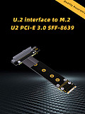 U2 interface SFF-8639 ( U.2 ) to M.2 NVMe NGFF Key M key-M M2 Adapter Riser Card Ribbon extender Cable 30cm For U.2 NVME SSD