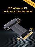 Riser U.2 Interface U2 to PCI-E 3.0 x4 SFF-8639 NVMe Solid State Transfer Extension Data Gen3.0 Cable 4 PCIe 4x For U.2 NVME SSD