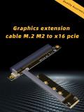 M.2 NVMe To PCIe 16x Riser X11050ti 1060ti 1080ti RX580 Graphics Card Extender M2 x16 PCI-e For NVIDIA AMD A N Card Btc Miner