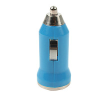 F08999 Generic Universal Mini 5V 1A USB Car Charger Power Adapter LED for MP3 Cell Phone Blue