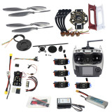Full Set Hexacopter 4-axle Aircraft Kit HJ 450 Frame PXI PX4 Flight Control 920KV Motor GPS AT9 Transmitter Props