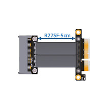 ADT-Link U.2 NVMe SSD to PCI-E 3.0 x4 SFF-8639 NVMe PCIe Extension Data Cable High Rate Transmission 8G/bps 30CM