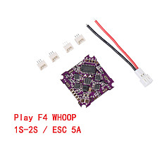 JMT Play F4 Whoop Flight Controller AIO OSD BEC & Built-in 5A BL_S 1-2S 4in1 ESC for RC Drone FPV Racing Quadcopter