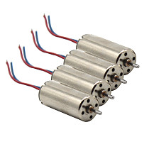 4Pcs No Gear 8520 Motor High Torque RC motor small 4-axis aircraft main high speed motor long line For DIY Drone and Toy Model