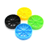 100Pcs 2*50mm Plastic Wheel Handmade Four-wheel Drive DIY Toy Drone Material For kid's Toy Model