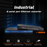 USR-N668 8 Ports Serial Ports Device RS232/RS485/RS422 Serial to Ethernet Converters Module Support TCP Server/UDP Client