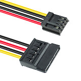 XT-XINTE 30cm Mini 4P to 15Pin SATA Female Optical Hard Drive Power Extension Suply Cable 20AWG