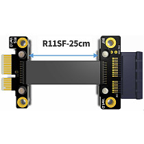 PCIe 3.0 x1 to x1 Extension Cable 8G/bps High Speed PCI Express x1 Riser Card Extender Ribbon Cable with Power Cable