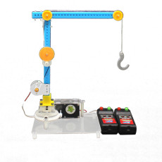 DIY Crane Handmade Kids Toys Science Experiment Steering Lift Machine Model Toy Kit