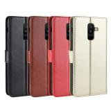 FCLUO Mobile Phone Case Flip Phone Card Protection Leather Case for Samsung Galaxy J4+/J4 Plus/J415F/J4 2018/J4 Core/J6+/J6 Plus/J6 Prime/J6 2018/J2 Core