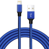 FCLUO 2m Universal Android Fabric Braided Data Cable Fast Charging Cable for IOS Android Type-c