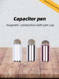 1 PC Stylus Pencil Cap Magnetic Silicone/Cloth Tip for Apple Pencil Touch Pen Case With Conductive Support IOS Android Windows