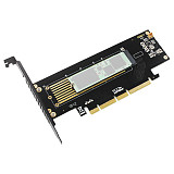 JEYI SK8-NEW Add On Card M.2 Expansion Card NVMe  Adapter turn PCIE3.0 Built-in Turbo Fan for 2230-22110 size NVME GEN3 M.3