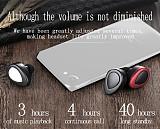 FCLUO TWS-K2HD Sweatproof Waterproof Wireless Bluetooth Headset Stereo Sport Earphones Earbuds With Charging Stand