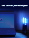 MingChuan USB Colorful Atmosphere Light LED Button Switch Colorful Color Strobe USB Night Light USB Light