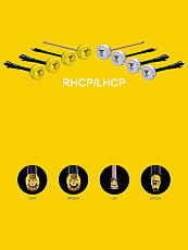 RunCam Speedy Bee 5.8 GHz Antenna LHCP/RHCP +UFL/MMCX/SMA/RPSMA