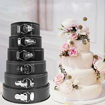18cm 20cm 22cm 24cm Round Cake Mould Tray Set Non Stick Spring Form Base Baking Pan Non-stick Bual-use