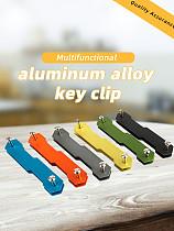 1x Aluminum Alloy Keychain Flexible Key Holder Clip Aluminum Keys Organizer Folder Keys Wallet Gadget Outdoor Camp Tools Kit