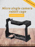 XT-XINTE SLR Camera Cage Protecting Case Mount Camera Photo Studio Kit with Cold Shoe Mount 1/4 -20 3/8 -16 Threaded Holes for DIY Options