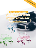 Light Luminous Metal Zipper Earphone Glow in The Dark Headphones Headset Creatively New Fashion Zipping Headphones Earhpones