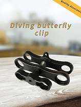 XT-XINTE Two Hole Butterfly Clip Diving Light Bracket Photographic Accessories Lamp Arm Extension Rod Lengthen Hole Design