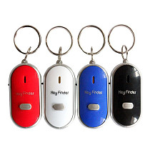 Mini Anti-lost Whistle Key Finder Flashing Beeping Remote Kids Key Bag Wallet Locators Child Alarm Reminder Keyfinder