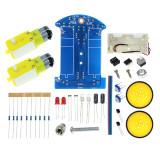 D2-1 DIY Kit Intelligent Tracking Line Smart Car Kit Suite TT Motor Electronic Production Smart Patrol Automobile Parts DIY Kit