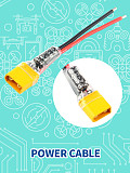 JMT Plug Pigtail Power Wire 100μF Capacitor for Mobula7 HD Sailfly-X TRASHCAN UR85 UR85HD Crazybee F3 / F4 PRO Parts