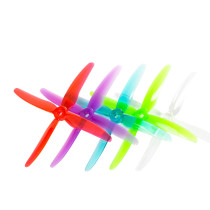 GEMFAN 2 Pairs 51455 5.1 inch Hurricane X 4-blade Propeller 5mm Mounting Hole for RC FPV Racing Drone Quadcopter Multirotor
