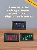 Mini Voltmeter Tester Digital Voltage Panel Meter Volt Test Battery DC 4.5V-30V 2 Wires 0.56'' for Motorcycle Auto Car LED 6V 12V 24V