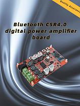 Wireless Bluetooth 4.0 Audio Receiver TDA7492P Digital Amplifier Board Module Power DC 8~25V HIFI Amplificador Component